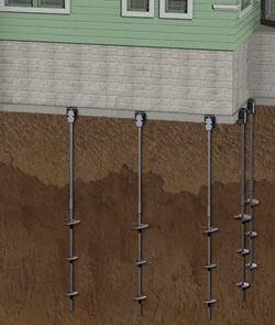 Foundation Helical Piers in Leamington